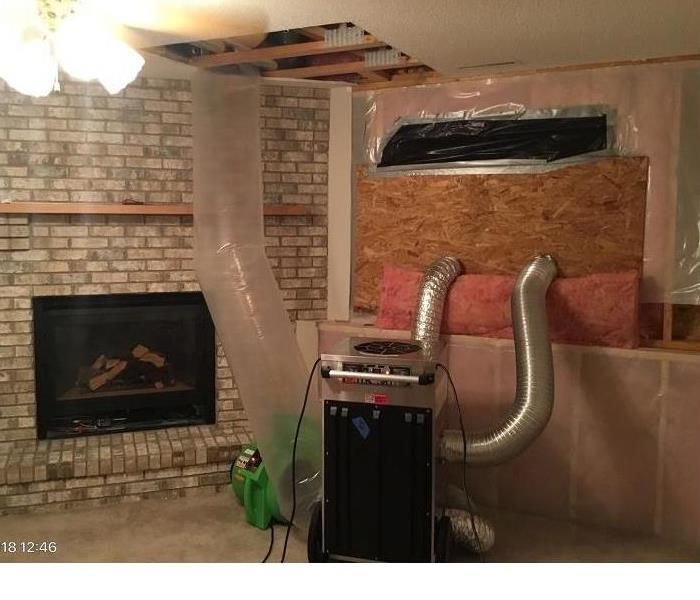 Mankato Fireplace Saved from Water Damage!