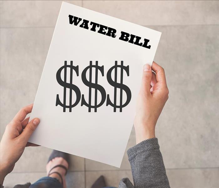 Water bill with $$ on it